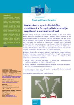 Modernizace vysokoškolského vzdělávání v Evropě: přístup, studijní