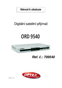 Digitální satelitní přijímač Ref. č.: 709540