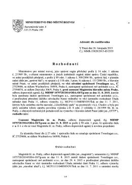 Rozhodnuti - Ministerstvo pro místní rozvoj
