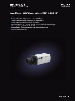 Katalogový list kamery SNC-EB630B Jazyk