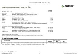 Ceník normovaných dveřních křídel SMART od 1.9.2015