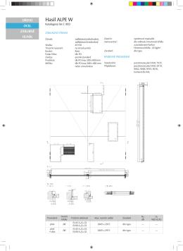 Produktový katalog ocelových dveří Hasil ALPE W