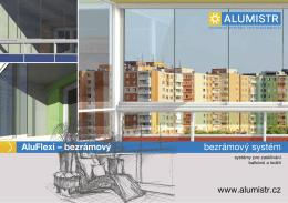 bezrámový systém AluFlexi – bezrámový