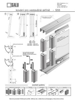 kování pro vestavěné skříně - S55