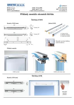 Příklady montáže okenních štěrbin