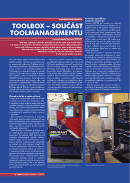 Toolbox - součást toolmanagementu