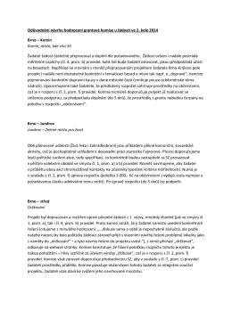 Odůvodnění návrhu hodnocení grantové komise u žádostí ve 2. kole