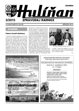 Hulíňan č. 3/2015