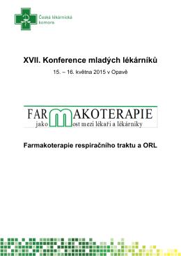 XVII. Konference mladých lékárníků