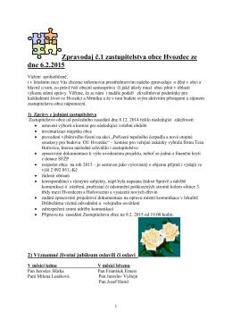 informační zpravodaj č. 1/2015