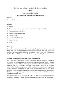 Zápis ze dne 6.5.2015 - portál sociální péče ve městě Brně