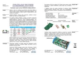 Modul RS485G4 - ALFA Mikrosystémy, sro