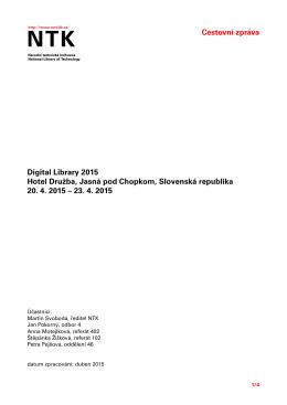 Stáhnout - Institucionální digitální repozitář NTK