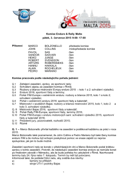 Zápis ze zasedání komise enduro a rallye FIM-Europe-2015-07