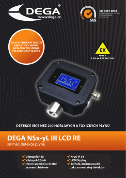 Katalog list DEGA NSx-yl III LCD RE