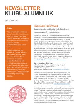 newsletter klubu alumni uk - Informační, poradenské a sociální