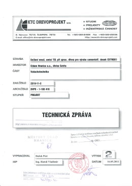 Příloha č.1 Technická zpráva