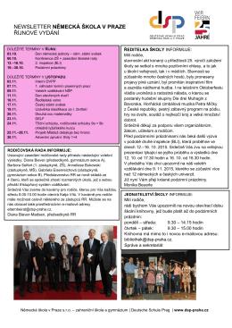 Říjen 2015 - Deutsche Schule Prag