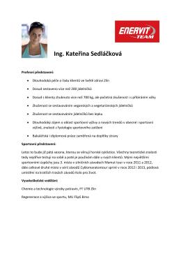 Ing. Kateřina Sedláčková