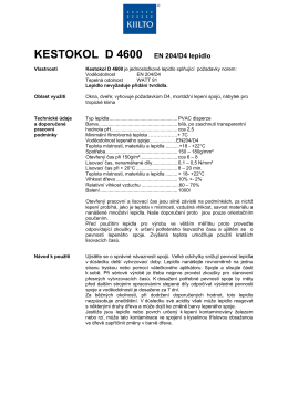 KESTOKOL D 4600 EN 204/D4 lepidlo