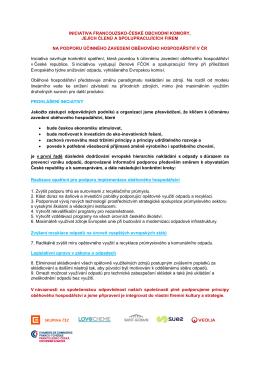 iniciativa francouzsko-české obchodní komory, jejích členů a