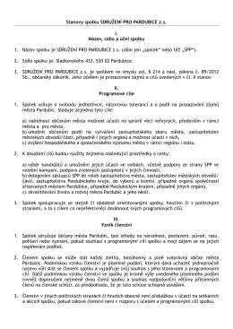 SPP stanovy občanského sdružení