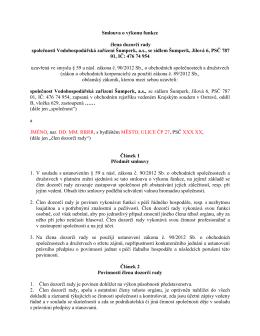 Smlouva o výkonu funkce člena dozorčí rady společnosti