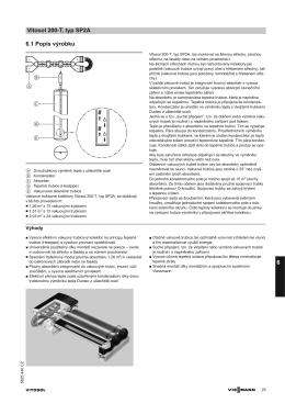 Technický list   Technická data Vitosol 200-T typ SP2A