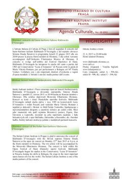 pro stažení brožury klikněte zde - Italský kulturní institut v Praze