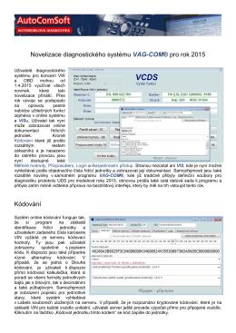 VAG-COM 14 novinky.