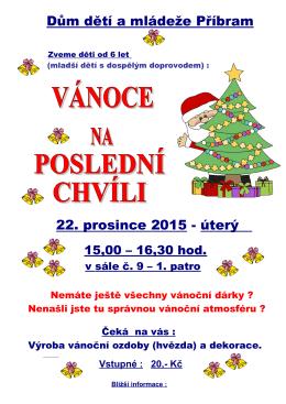 Dům dětí a mládeže Příbram 22. prosince 2015