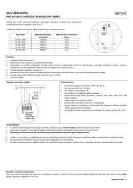 montážní návod pro svítidla s nouzovým modulem combo