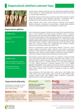 Doporučené ošetření cukrové řepy a referenční aplikace, 450 kB