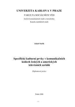 Specifické kulturní prvky v komunikačních kódech českých a