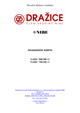 Návod k obsluze NADO 500/300 (750/250) v1