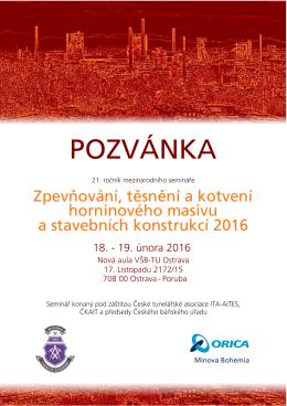 POZVÁNKA - Minova Bohemia sro
