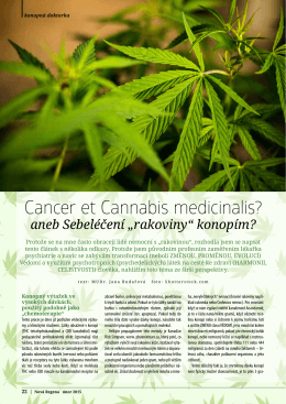 Cancer et Cannabis medicinalis?