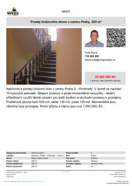 Prodej činžovního domu v centru Prahy, 525 m²