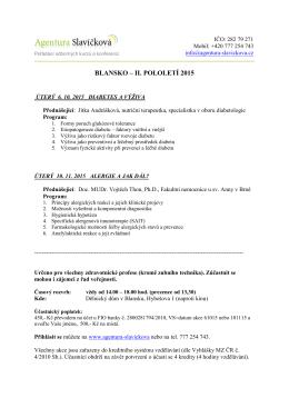 BLANSKO – II. POLOLETÍ 2015