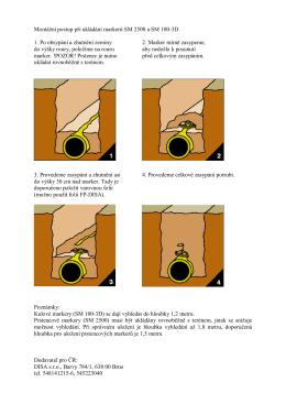 Montážní postup při ukládání markerů SM 2500 a SM 100