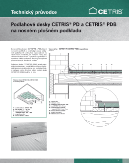 Technický průvodce Podlahové desky CETRIS® PD a CETRIS