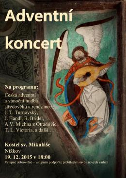 Na programu: Kostel sv. Mikuláše Nížkov 19. 12. 2015 v 18