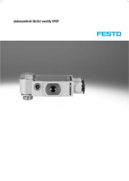Jednosměrné škrticí ventily VFOF