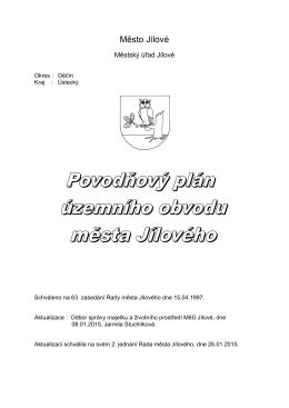 Povodňový plán územního obvodu města Jílového