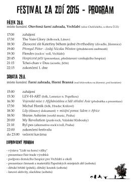 festival Za zdí 2015 - program