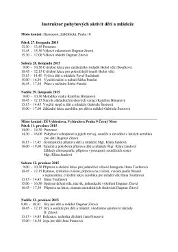 Program akreditovaného vzdělávacího programu