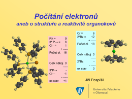 počítání elektronů, lekce 2 - The Pospisil Research Group