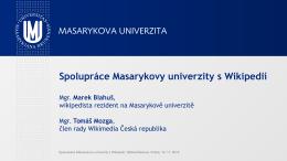 Spolupráce Masarykovy univerzity a Wikipedie