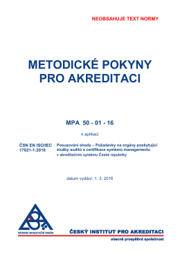 MPA 50-01-16 - Český institut pro akreditaci, ops