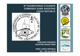 8th CHAMPIONNAT D`EUROPE COMBINED GAME SHOOTING